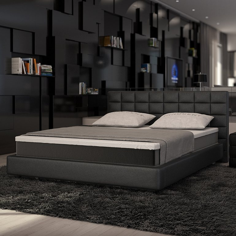 innocent boxspringbett aus kunstleder schwarz kingston. Black Bedroom Furniture Sets. Home Design Ideas