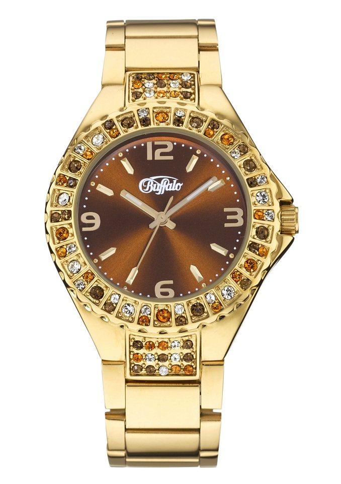 Buffalo, Armbanduhr in goldfarben
