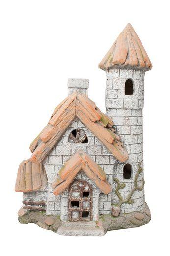 HTI-Line Dekofigur »Gartendeko Fairytale Haus mit Turm« (1 Stück), Gartendeko