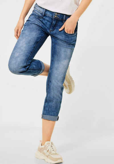 STREET ONE 3/4-Jeans »Jane« mit Used-Waschung