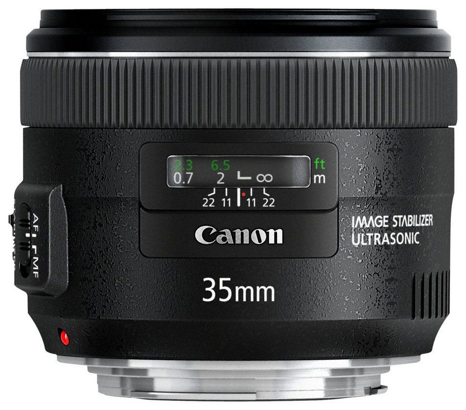 Canon EF 35mm f/2 IS USM Festbrennweite Objektiv in schwarz