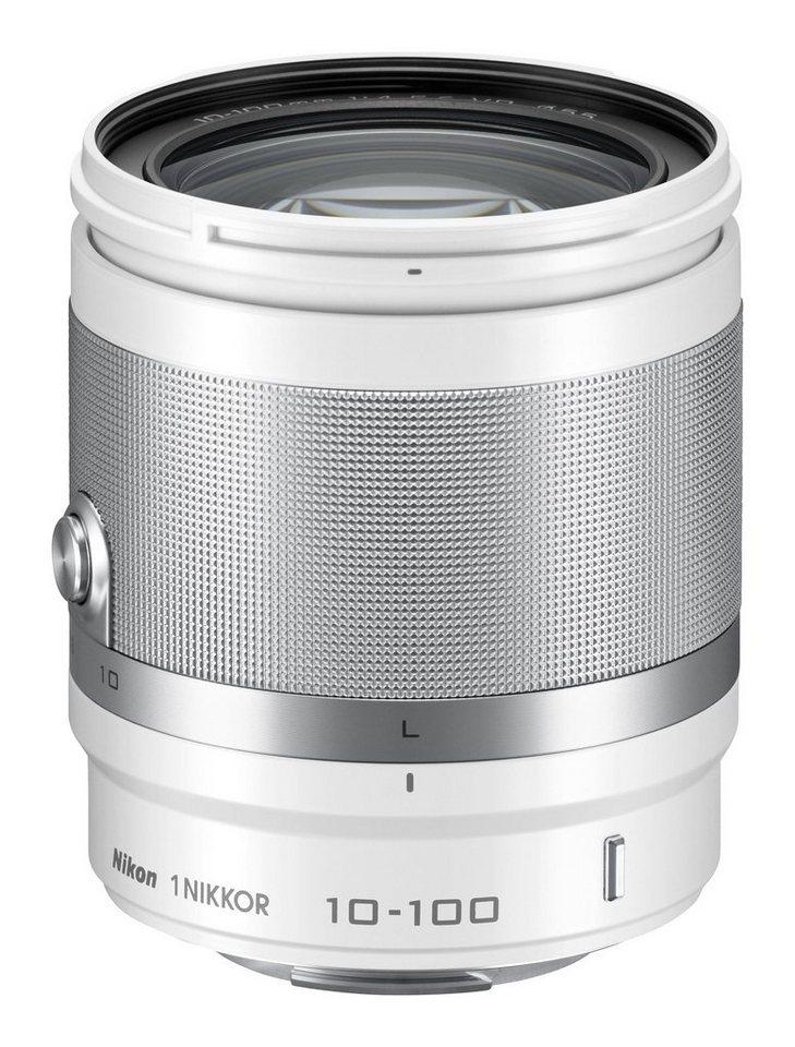 Nikon Zoom-Objektiv AF-S NIKKOR VR 10-100mm 1:4-5,6 weiß in weiß