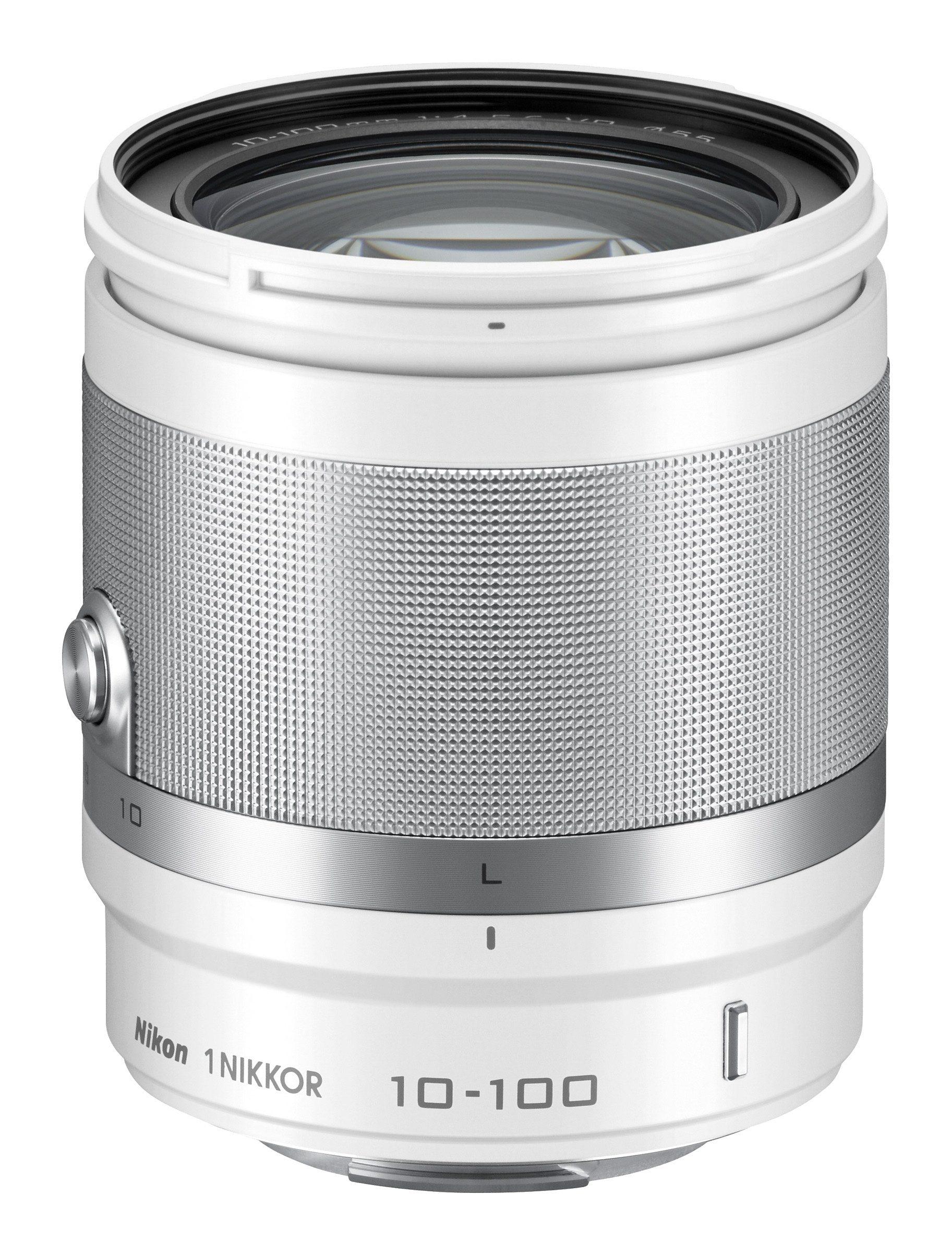 Nikon Zoom-Objektiv AF-S NIKKOR VR 10-100mm 1:4-5,6 weiß