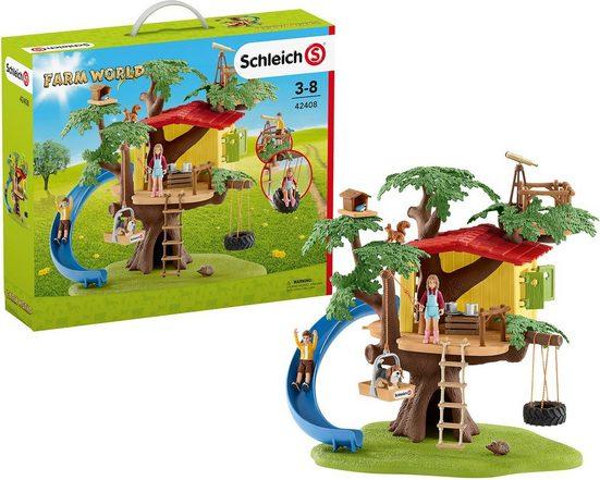 Schleich® Spielfigur »Schleich 42408 Farm World: Abenteuer Baumhaus«