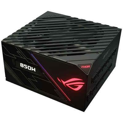 Asus »ROG Thor-850P Platinum Netzteil 850 Watt« PC-Netzteil (OLED Display, 0dB-Kühlung, adressierbare RGB-LEDs und Aura-Sync-Kompatibilität)