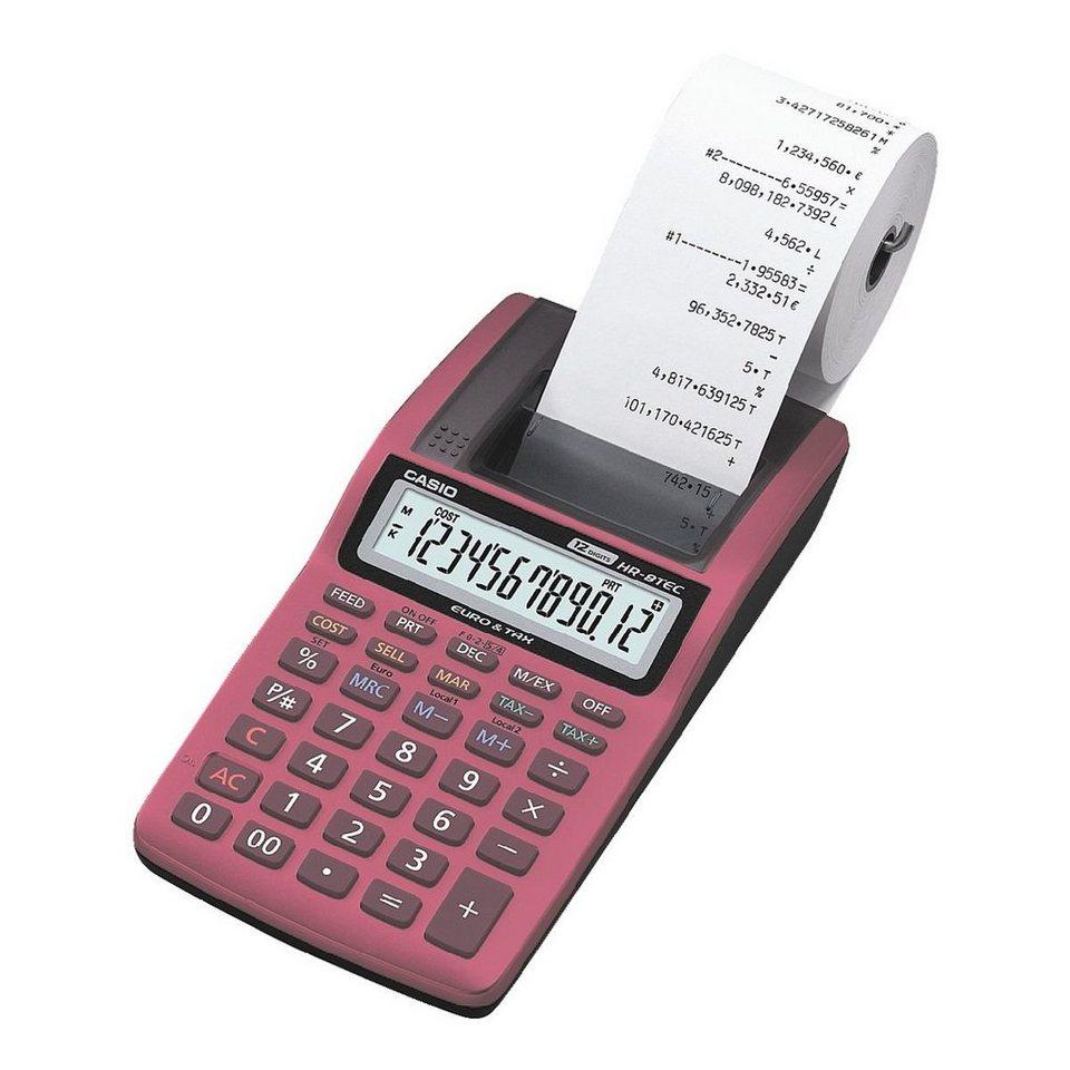 CASIO Druckender Tischrechner »HR-8TEC-RD«