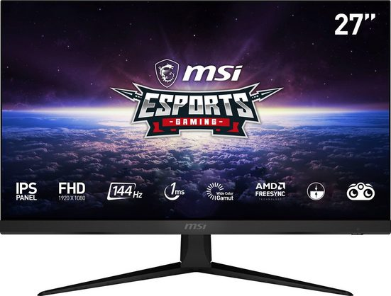 """MSI Optix G271 Gaming-Monitor (69 cm/27 """", 1920 x 1080 Pixel, Full HD, 1 ms Reaktionszeit, 144 Hz, IPS, 3 Jahre Herstellergarantie)"""