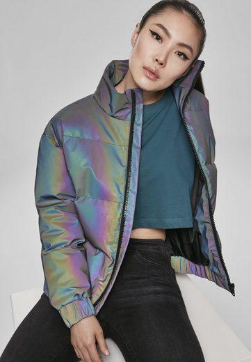 URBAN CLASSICS Winterjacke »Ladies Iridescent Reflectiv Puffer Jacket«