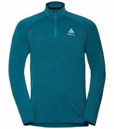 Odlo Funktionsweste »odlo Millennium Yakwarm Funktions-Shirt atmungsaktives Herren Langarm Sport-Shirt Training Blau«