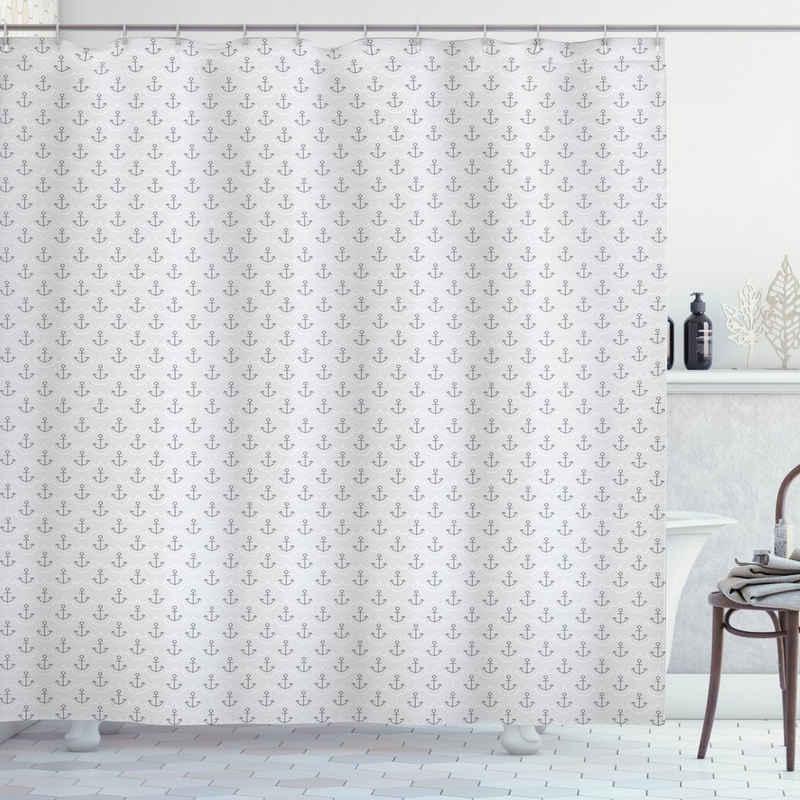 Abakuhaus Duschvorhang »Moderner Digitaldruck mit 12 Haken auf Stoff Wasser Resistent« Breite 175 cm, Höhe 200 cm, Anker Wellenmuster