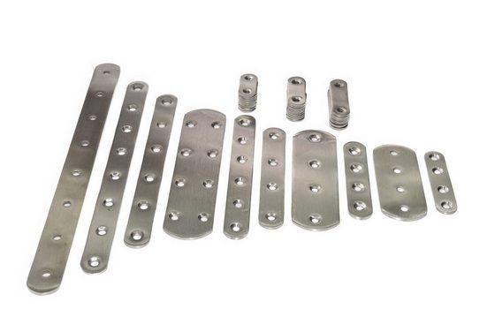 TIVENDIS Schraube »Edelstahl I-Verbinder Montagewinkel Flachverbinder«