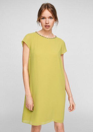 Comma Minikleid »Kleid mit Schmuck-Detail« Schmuck-Detail