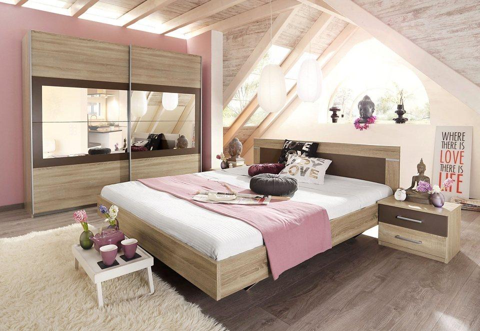 rauch Schlafzimmer-Set »Venlo«, Set bestehend aus Schrank, Bett und 2  Nachttischen online kaufen | OTTO
