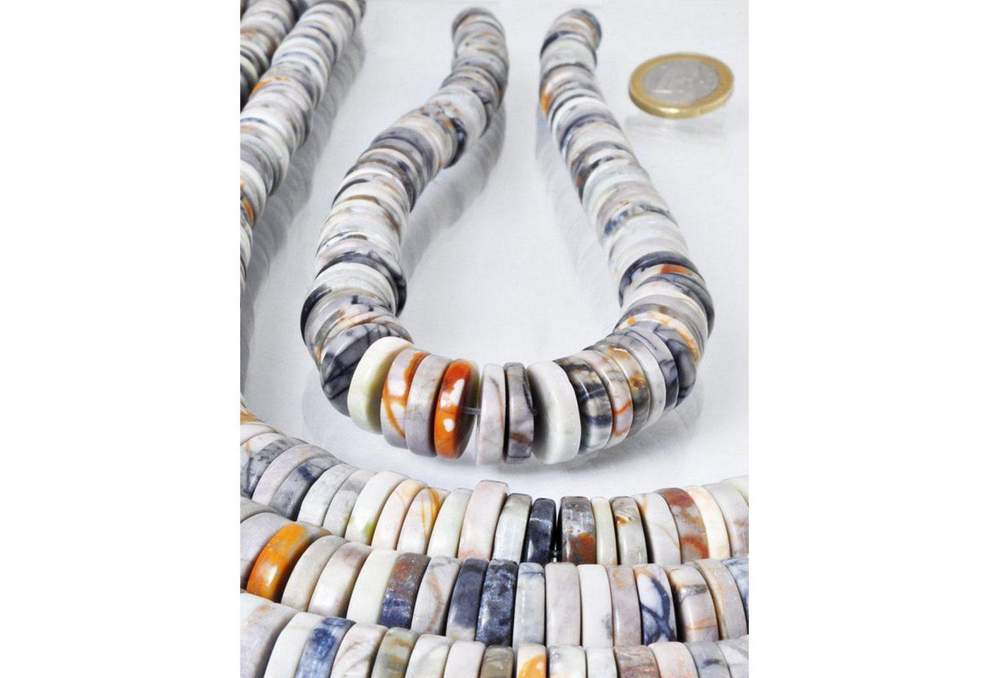 adelia´s -  Kette ohne Anhänger »Picasso-Marmor Linsen & Discs Steinstrang - 40 cm«