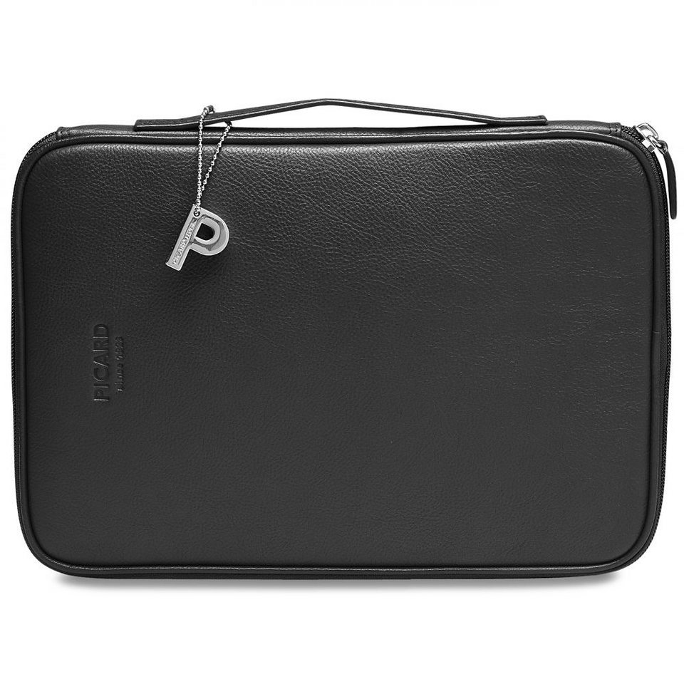 Picard Busy Laptoptasche Leder 29 cm in schwarz