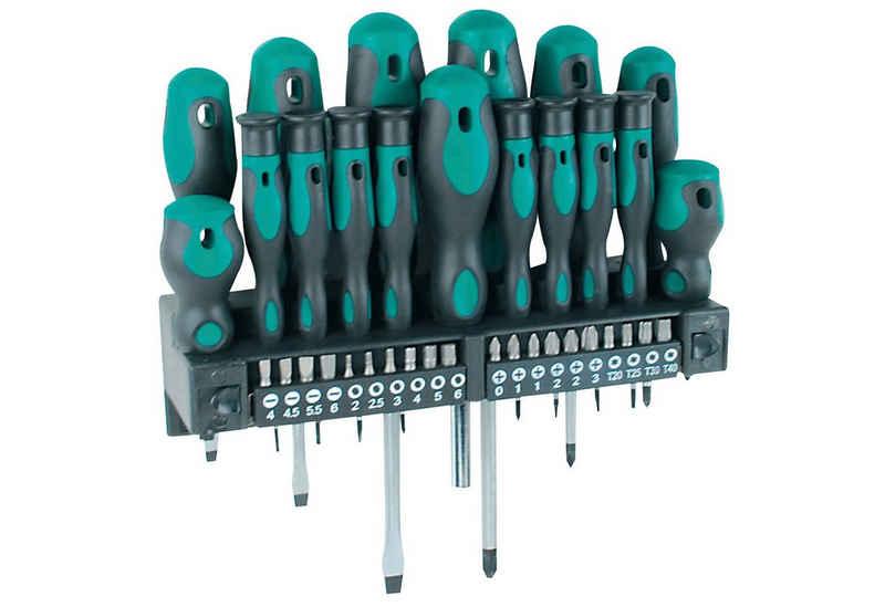 Brüder Mannesmann Werkzeuge Schraubendreher, (Set, 37 St), inkl. Bit-Sortiment