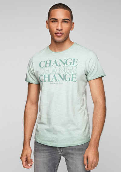 s.Oliver Kurzarmshirt »T-Shirt« (1-tlg) Waschung