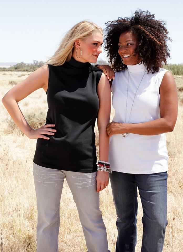 sheego Shirts (2 Stck.) in weiß + schwarz