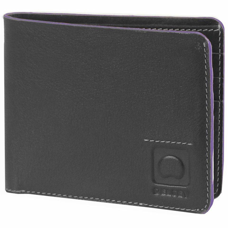Delsey Aurore Geldbörse Leder 11,5 cm in schwarz