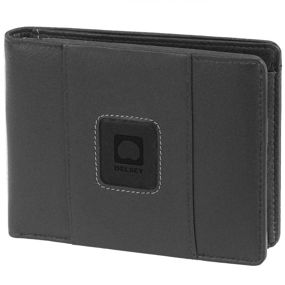 Delsey Palmarès Geldbörse Leder 12,7 cm in schwarz