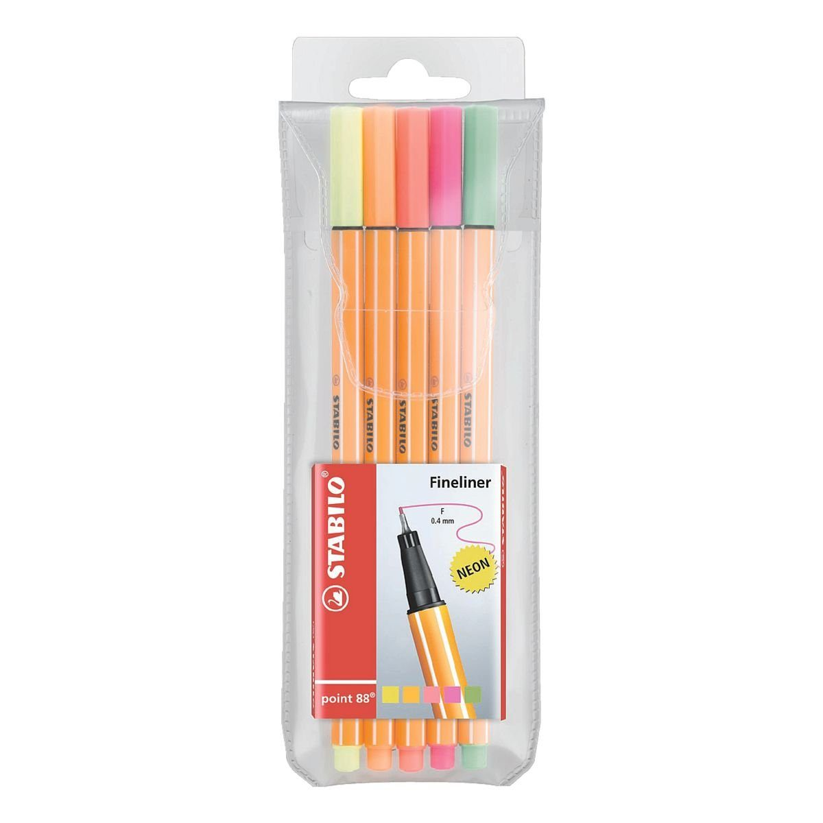 Stabilo 5er-Pack Fineliner »Point 88 neon«