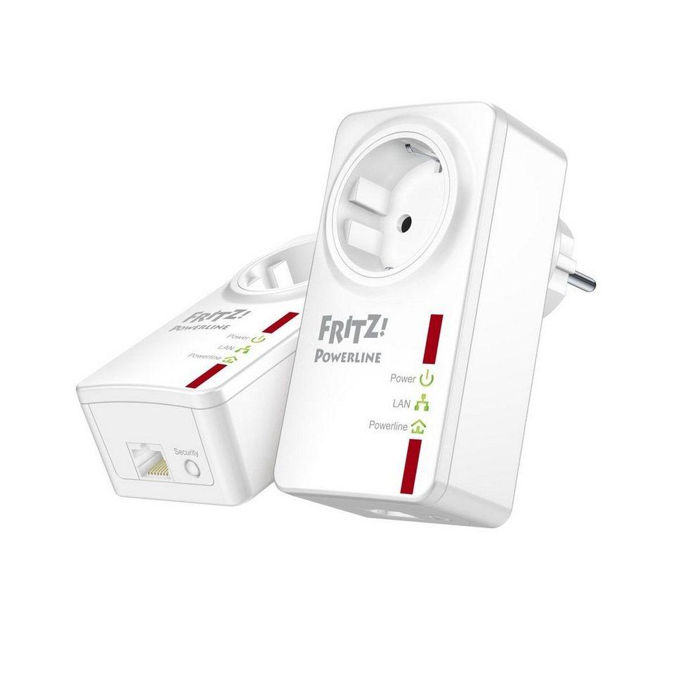 AVM Powerline »FRITZ!Powerline 530E Set 500 MBit 2er KIT (1x LAN)« in Weiß