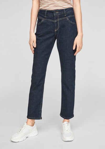 Comma 7/8-Jeans »Slim Fit: Leicht ausgestellte Jeans« Waschung, Ziernaht