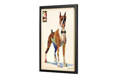KUNSTLOFT Bilder-Collage »Gentleman Boxer«, trendiges Frame Art 3D Bild