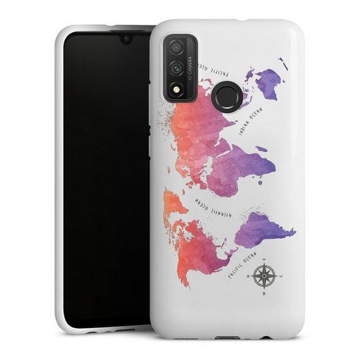 DeinDesign Handyhülle »Worldmap (watercolor) ohne Hintergrund« Huawei P Smart (2020), Hülle Weltkarte Landkarte Motiv ohne Hintergrund