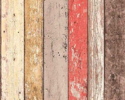 living walls Bordüre »pop.up Panel 3D«, Holz, Holzplanken in Vintage-Optik, selbstklebend