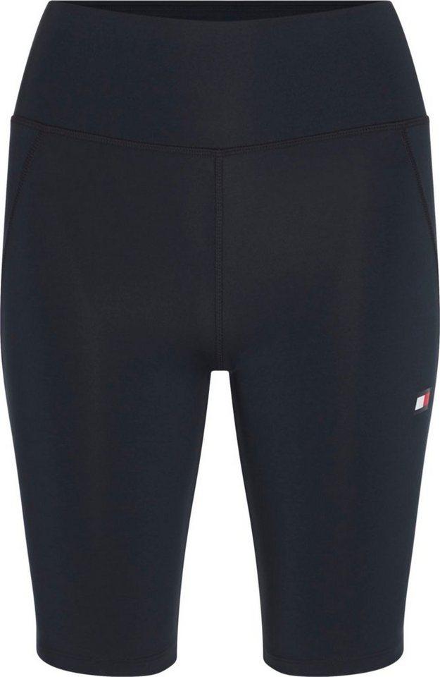 tommy sport -  Radlerhose »KNIT LONG SHORT LBR« mit formgebenden Nähten &  Logo-Flag
