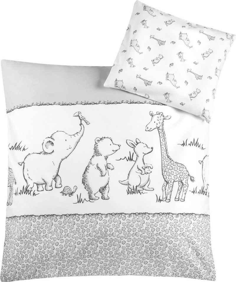 Kinderbettwäsche »Safari«, Julius Zöllner, mit unterschiedlichen Tieren