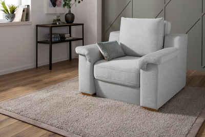 Home affaire Polstergarnitur »Tiny November«, (2-tlg), Verwandlungssessel: Hocker im Sessel integriert, Breite 112 cm