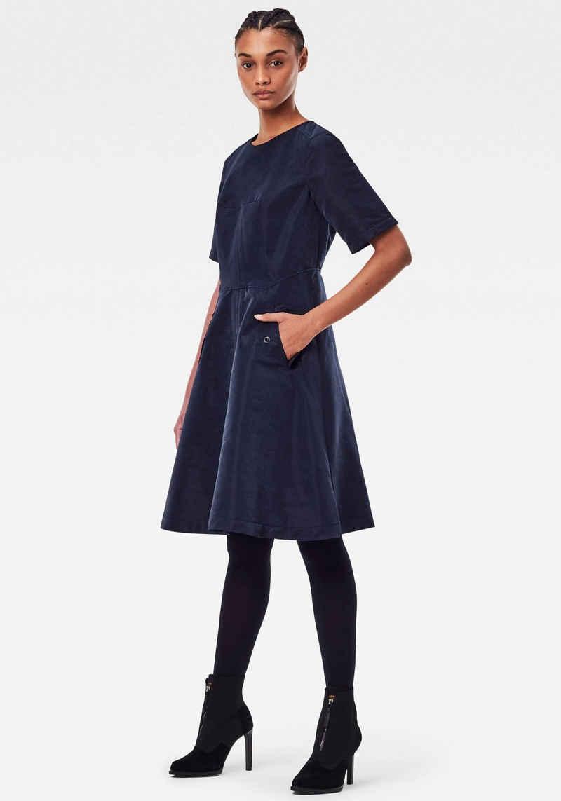 G-Star RAW A-Linien-Kleid weiche Qualität mit zartem Glanz