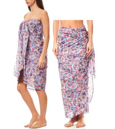 Maui Wowie Sommerkleid »MAUI WOWIE gemusterter Pareo Strandbekleidung Strand-Kleid Rock Bademode Bunt«