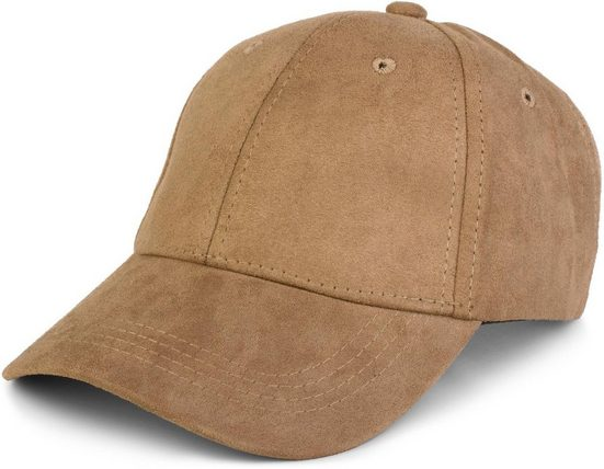 styleBREAKER Baseball Cap »Cap in Wildleder Optik«
