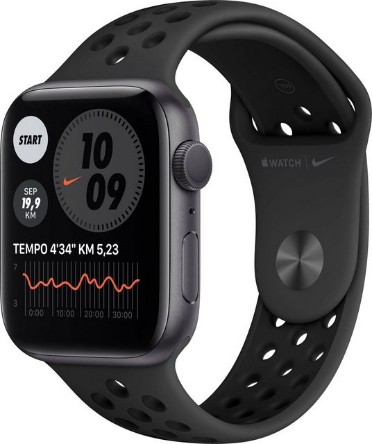Smartwatches - Apple Nike Series 6 GPS, Aluminiumgehäuse mit Nike Sportarmband 44mm Watch (Watch OS, inkl. Ladestation (magnetisches Ladekabel)  - Onlineshop OTTO
