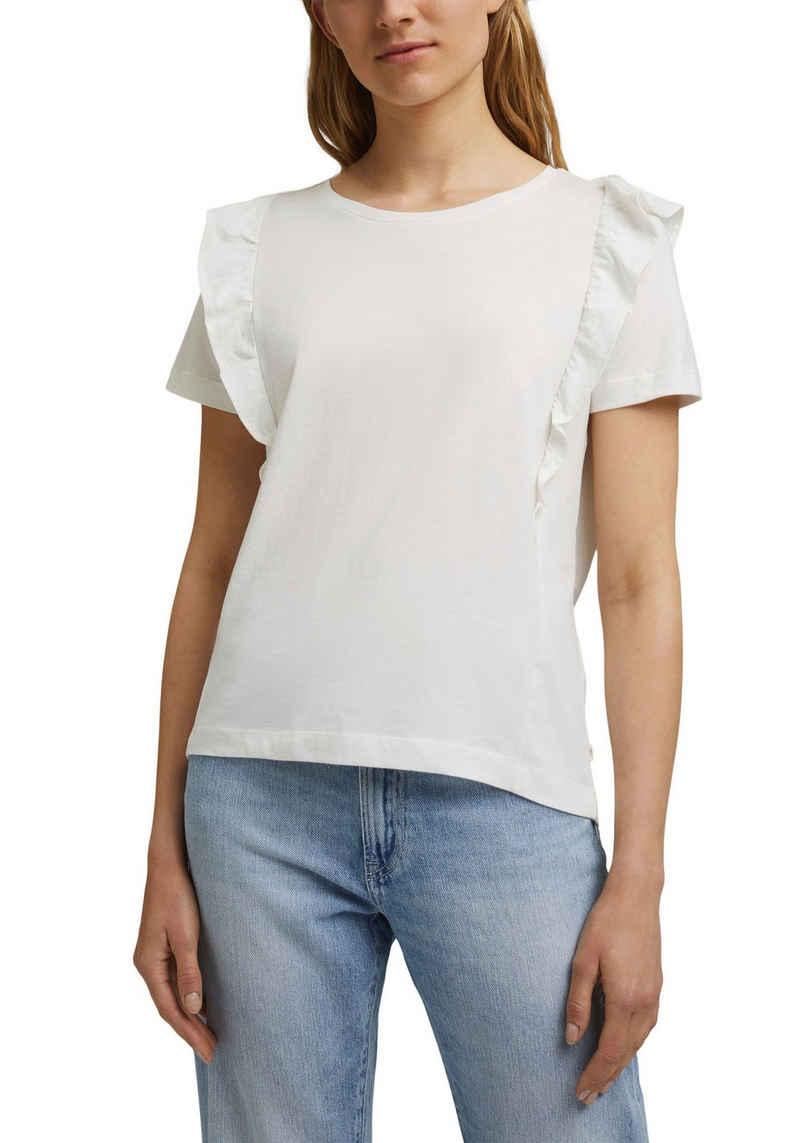 edc by Esprit T-Shirt mit modischen Volants