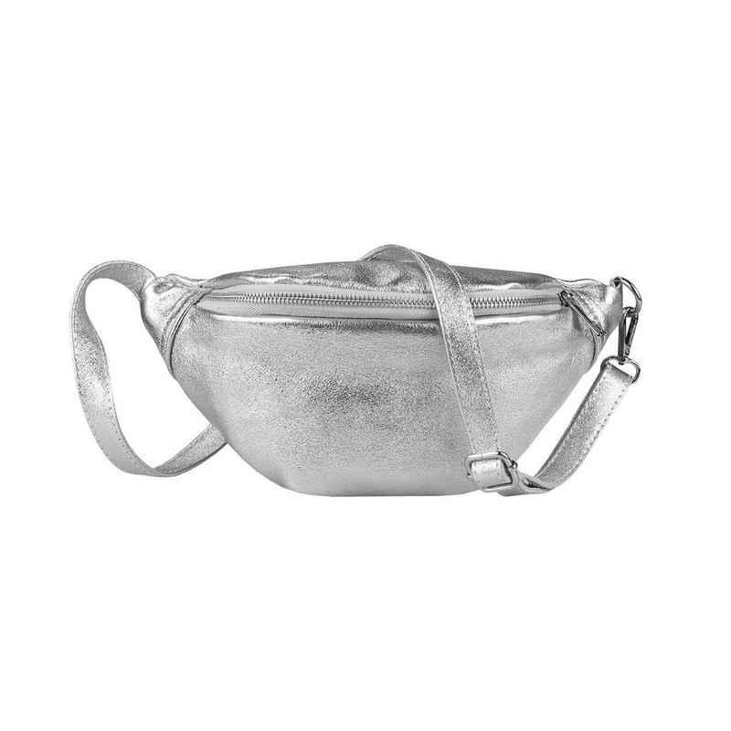 ITALYSHOP24 Schultertasche »Damen Leder Gürteltasche Hüfttasche CrossBody«, als Schultertasche, CrossOver, Umhängetasche tragbar