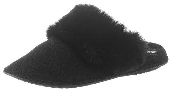 Crocs »Classic Luxe Slipper« Pantoffel mit Filzfutter