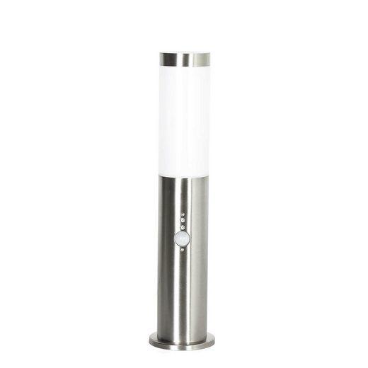 Licht-Erlebnisse Sockelleuchte »BRIGHTON Außenleuchte mit Bewegungsmelder Erdspieß blendarm Wegeleuchte Lampe«