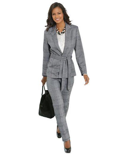 Lady Jersey-Blazer in Glencheck-Muster