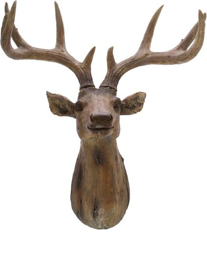 Dekogeweih, aus Polyresin, Höhe ca. 57 cm
