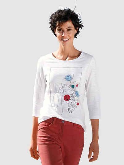 Dress In Print-Shirt mit modernem Frontprint