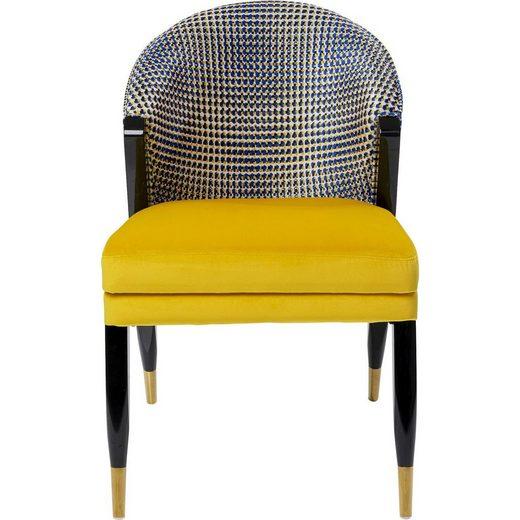 KARE Sessel »Sessel Mansion«, Korpus Sperrholz lackiert, Bezug Polyester, Fuß/Füße Stahl ...