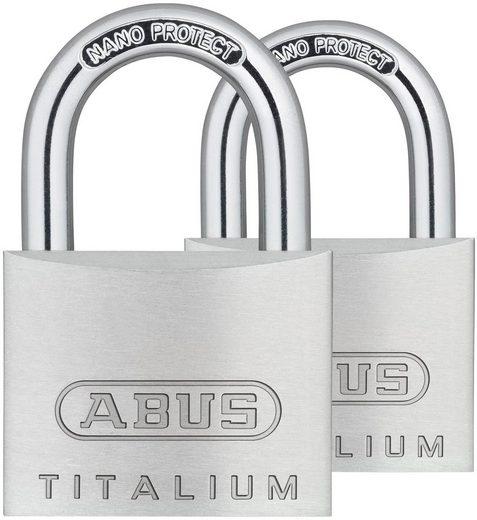 ABUS Vorhängeschloss »64TI/30 Twins B/SB«, (Set, 2-tlg)