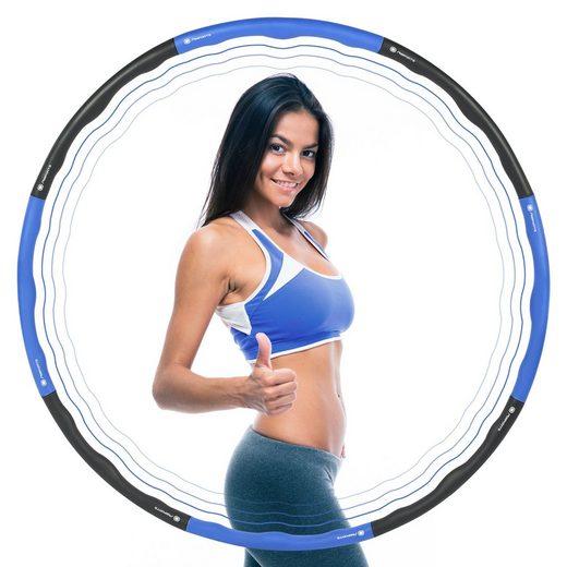 MSports® Hula-Hoop-Reifen »MSports Hula Hoop Reifen Fitness smart zum Abnehmen mit Massagefunktion 8-tlg in der Größe verstellbar für Kinder und Erwachsene - Blau«