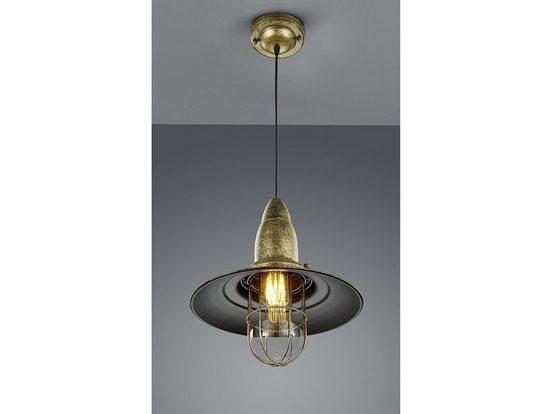 TRIO LED Pendelleuchte, im Industrie-Design Schiffslampen für über Esstisch-lampe, Industrial, Retro, Hängelampe, Vintage, Esszimmer, Wohnzimmer, Kücheninsel, Kochinsel, Galerie, Küche