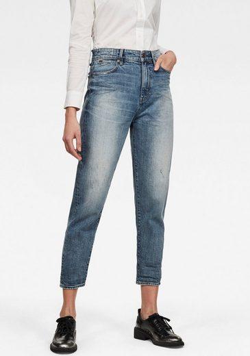 G-Star RAW Ankle-Jeans »Janeh Ultra High Mom Ankle Jeans« abgerundete Passe hinten u. schräge Gürtelschlaufen für femininen Look