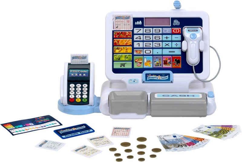Klein Spielkasse »Shopping Center Tablet & Kassenstation«, mit elektronischen Funktionen